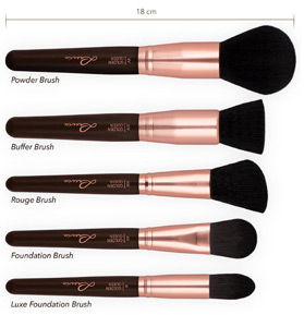 luvia cosmetics make up pinselset test review. Black Bedroom Furniture Sets. Home Design Ideas