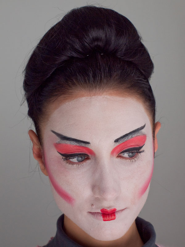 Geisha Makeup Schminkanleitung Kostum Selber Machen