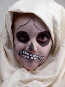 Skelett Kostüm Für Halloween Gesicht Schminken Mit Foto Anleitung