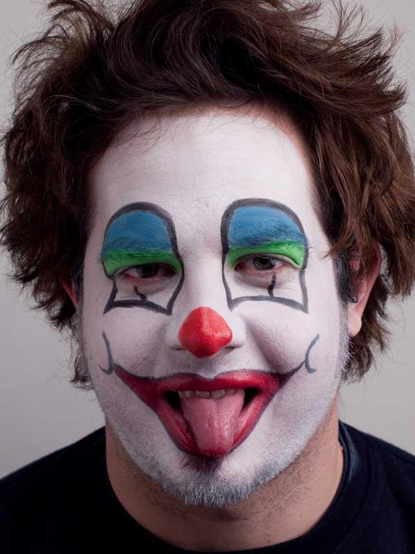 Der klassische Clown für Karneval