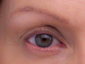 Smokey Eyes Augen Make Up - Vorher