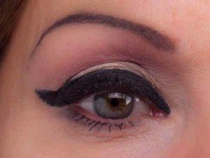 Smokey Eyes Augen Make Up - Nachher