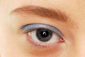 Blaues Smokey Eyes - Lidschatten
