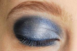Blaues Smokey Eyes - Highlighter setzen