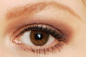 Braunes Nude Make up - Lidstrich und Wimpern