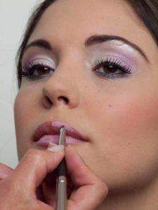 Glänzende Lippen