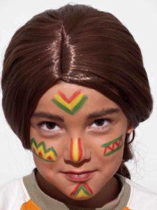 indianer schminken schminkanleitung kost m. Black Bedroom Furniture Sets. Home Design Ideas