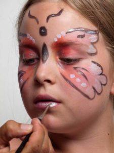 Schmetterling Schminken Schminkanleitung Kostum