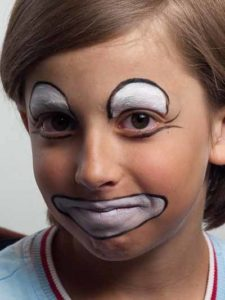 Clown Schminken Kostum Verschiedene Varianten