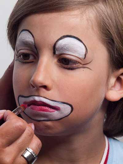 Kinderschminken Clown – Schminkanleitung