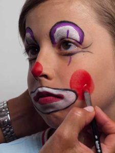 Kinderschminken Clown - Wangen