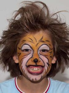 Kinderschminken Löwe - Nachher Bild 1