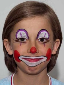 Kinderschminken Clown - Faxen 1