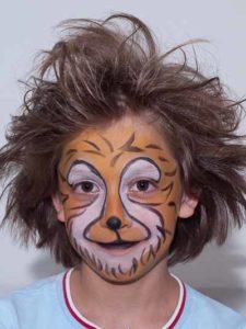 Kinderschminken Löwe - Nachher Bild 2