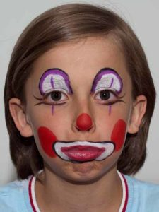 Kinderschminken Clown - Faxen 2