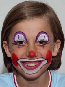 Kinderschminken Clown - Nachher