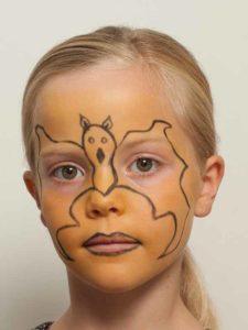 Fledermaus schminkanleitung kost m - Fledermaus schminken ...