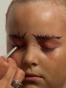 Kinderschminken Hexe - Augen schminken 1