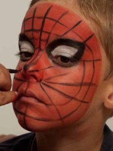 Spiderman schminken - Netz schminken 3