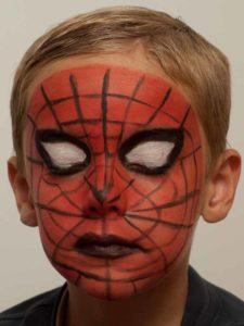 Spiderman schminken - Nachher