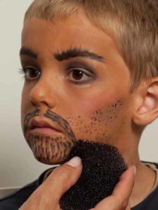 Kinderschminken Cowboy - Bartstopeln
