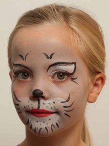 Kinderschminken Katze – fertig