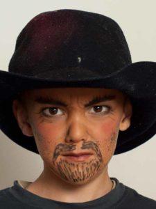 Kinderschminken Cowboy - mit Hut