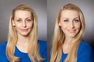 Augen Make up - Vorher-Nachher