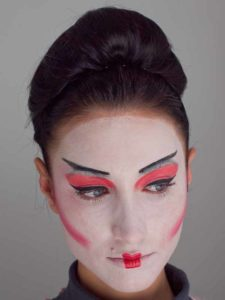 Kostüme für Halloween - Geisha Make up