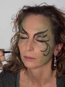 Als zauberhafte Fee für Karneval schminken - Ornamente 1