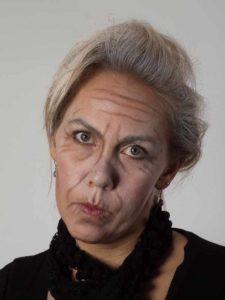 Als -alte Frau- für Karneval oder Mottoparty schminken - Nachher