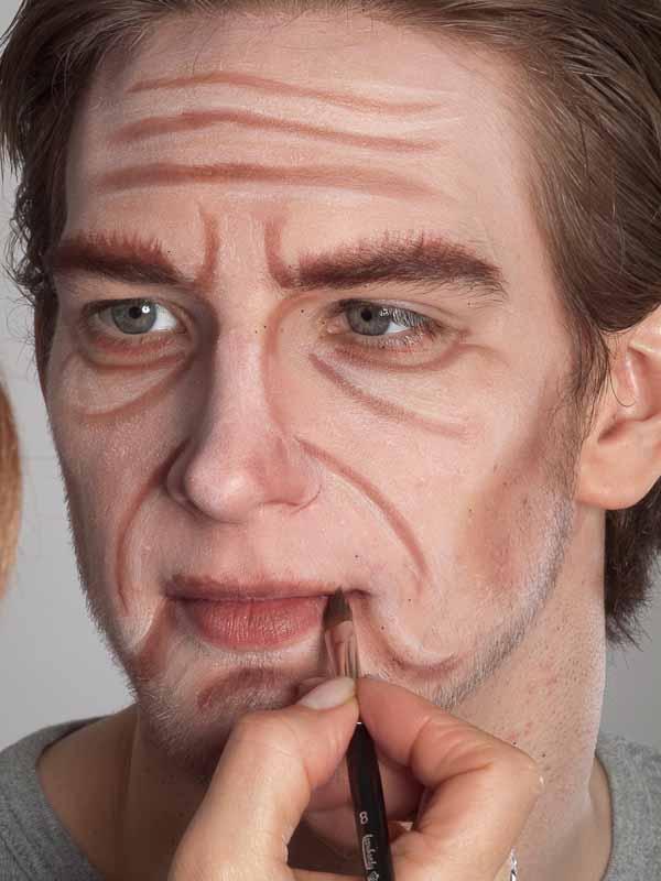 Alter Mann – Schminken und Kostüm für Karneval selber machen – Schminkanleitung