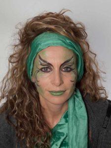 Als zauberhafte Fee für Karneval schminken - Nachher