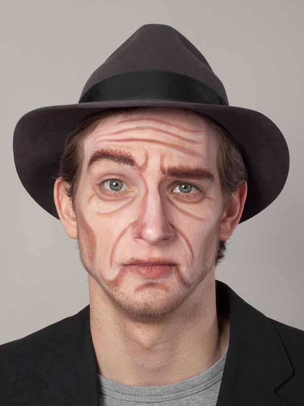 Alter Mann – Schminken und Kostüm für Karneval selber machen – Vorher Nachher Vergleich