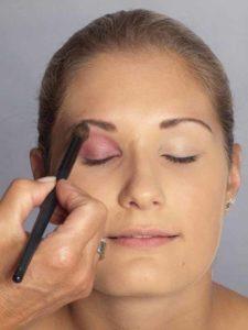Sylvie van der Vaart Make up - Lidschatten verblenden