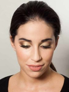 Braut Make up Golden Eyes