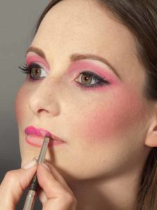 Pink Lady Make up Look – Lippen auch in Pink 2