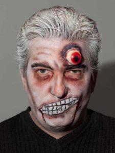 Halloween aktuelle Trends Zombie mit drittem Auge
