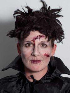 Halloween aktuelle Trends Zombie mit Stirnwunde