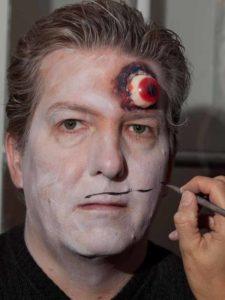 Zombie Maske mit Applikation schminken - Fratze 1