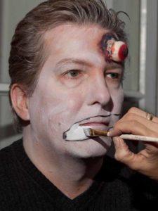 Zombie Maske mit Applikation schminken - Fratze 2