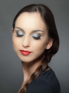 Braut Make up Metallic Look