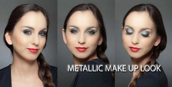 Metallic Make up Look