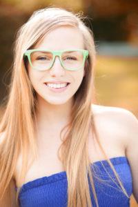 Angesagte Nerdbrille für Brillenträgerinnen
