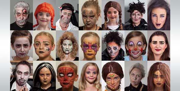 Halloween Schminke Zum Selber Machen.Karneval Fasching Schminken Make Up Vorlagen Ideen