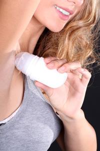 Antitranspirant-auftragen