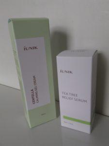 Iunik Centella Calming Gel Cream und Tea Tree Relief Serum