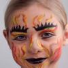 Teufel im Karneval schminken – hier in der flammenden-Feuerteufel-Variante