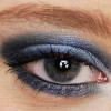 Blaues Smokey Eyes Augen Make up schminken