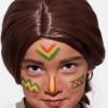 Kinderschminken Indianer – Vorher Nachher